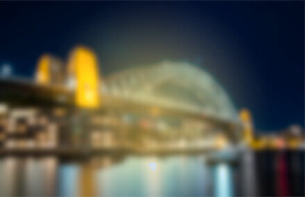 blurry image of the Sydney Harbour Bridge with cataracts